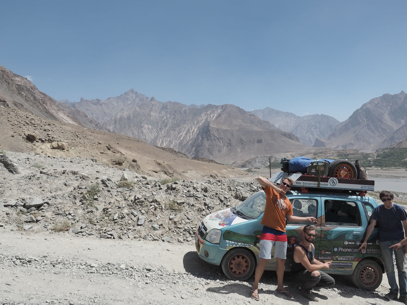 EkoBuilt logo on the Pamir Highway